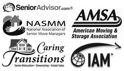 SeniorAdvisor.com, National Association of Senior Move Managers, American Moving & Storage Association, Caring Transitions and IAM